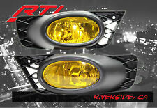 09-11 Honda Civic 4 door JDM Yellow Fog Light + Harness Kit EX DX LX SI Sedan FG
