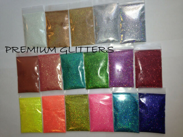 Holographic/Iridescent Extra Fine 0.008/0.004 Glitter Powder Dust Loose Nail Lot