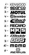 11 Car Sponsor Decal Pack! JDM Racing Sticker Vinyl Decal Windshield Window