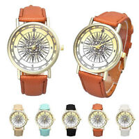 Fashion Women Men Leather Band Analog Quartz Dial Sports Casual NEW Wrist Watch