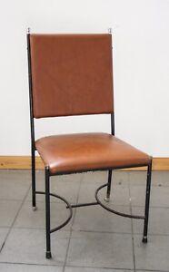 Sedie Vintage Anni 60.Sedia Vintage Anni 60 70 Simil Pelle E Ferro Design Attr