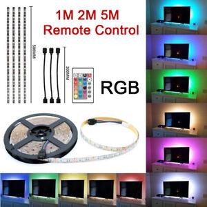 5050-RGB-LED-STRIP-LIGHTS-COLOR-CHANGING-TV-BACKLIGHT-CABINET-LIGHTING-REMOTE-UK