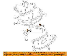 VW-VOLKSWAGEN-OEM-CC-Front-Bumper-Impact-Bar-Reinforcement-Rebar-Bolt-N10640301