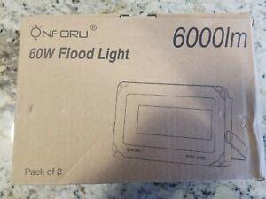 5000K Daylight Assorted Colors Onforu 60W IP66 Waterproof LED Flood Light
