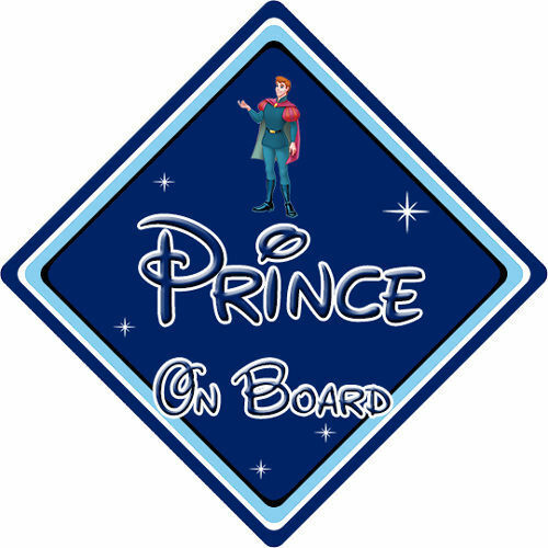 Disney Prince On Board Car Sign Baby On Board Sleeping Beauty Prince Phillip DB