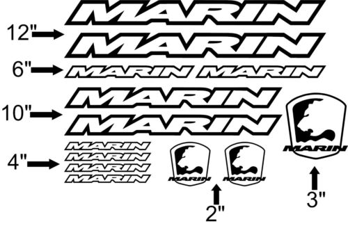 Pick Your Color USA Seller! Custom Marin Bike Frame Decal Set