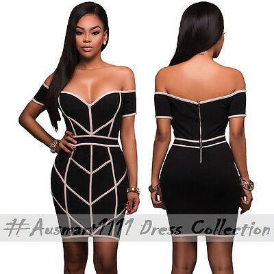Sexy Sweetheart Off shoulder Slim Bodycon Cocktail Evening Club Party Mini Dress