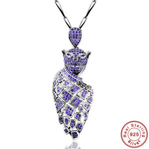 Individuality-Gifts-Leopard-Amethyst-S925-Sterling-Silver-Pendant-Chain-Necklace