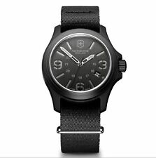 Brand New Victorinox Swiss Army 241517 Men's Original watch Black Nylon Strap