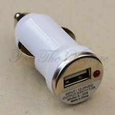 USB Car Charger Adapter 12V DC to 5V for Phone MP3 CD Player etc. Compact White