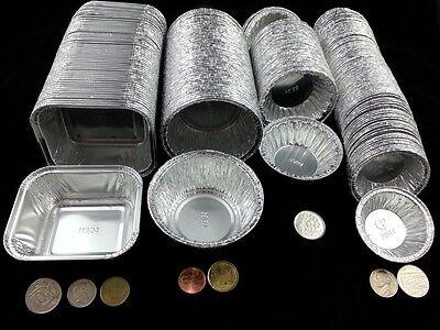 50 100 Round Alluminio Case Stagno 4 Taglia Egg Tart Mince Pie Piatti Jam Torta Torte Natale- Grande Assortimento