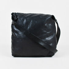 Ann Demeulemeester Black Leather Sack Crossbody Shoulder Bag