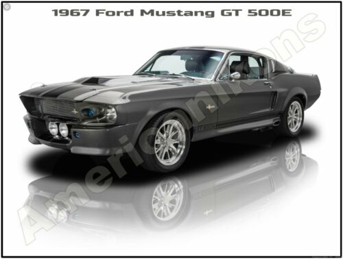 1967 Ford Mustang GT 500E New Metal Sign Pristine Restoration
