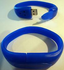 8GB polso Band Bracciale USB 2.0 Memory Stick-Blu-GRATIS 1st Class consegna