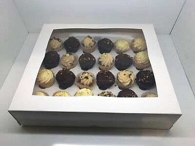 SAME DAY rétroaction Premium 24 Mini Cupcake White Box with 3.5 cm Divider