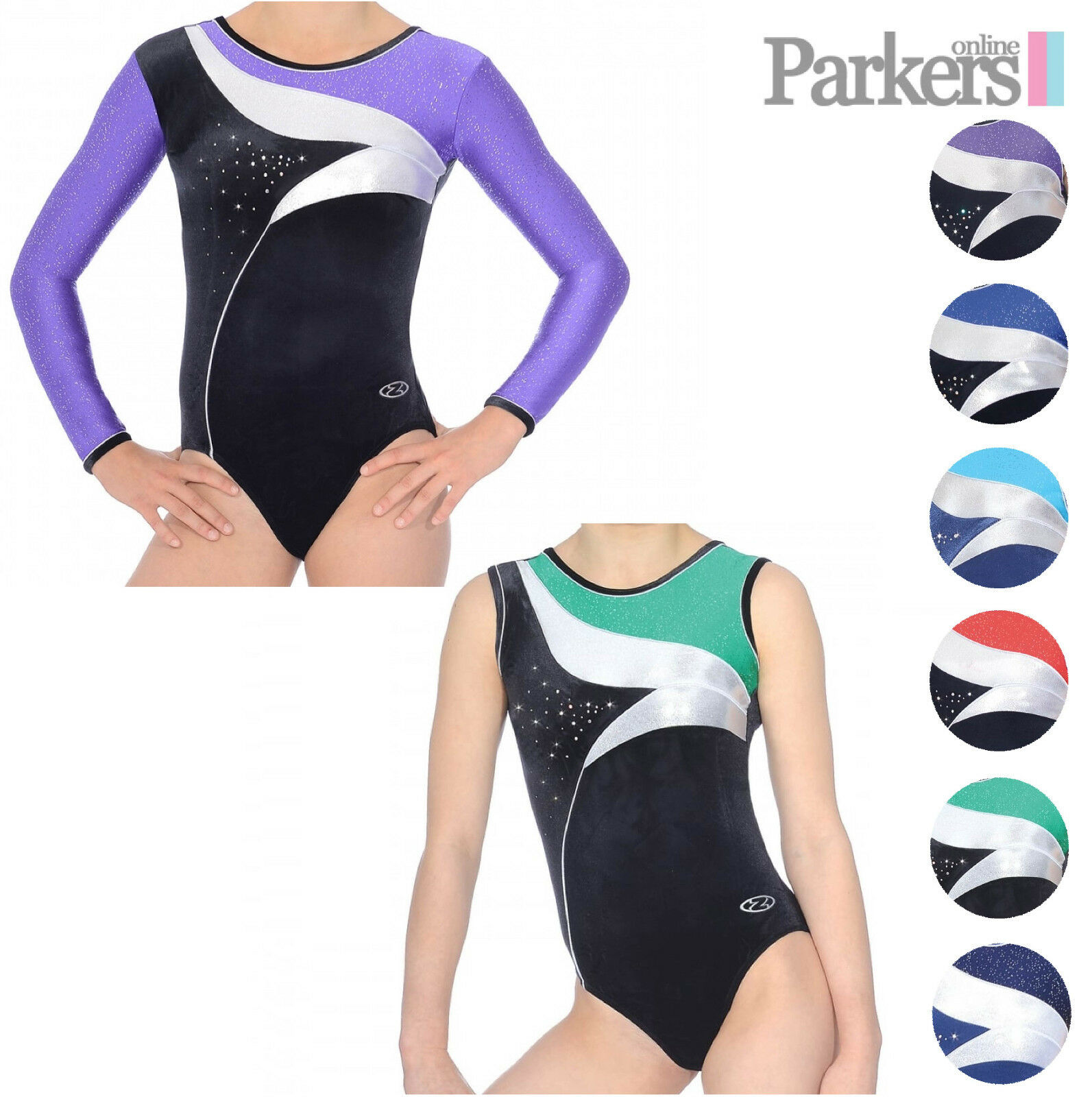 NEW GIRLS ZONE COSMIC LEOTARD LONG SLEEVE SLEEVELESS DANCE GYMNASTICS SIZE 24-38