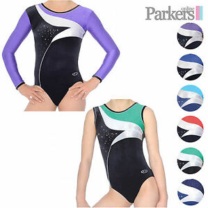 NEW GIRLS ZONE COSMIC LEOTARD LONG SLEEVE SLEEVELESS DANCE ... bfd9d2b98b3