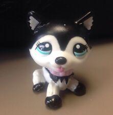 Littlest Pet Shop RARE Husky Dog #2246 Black And White Blythe Doll Dog