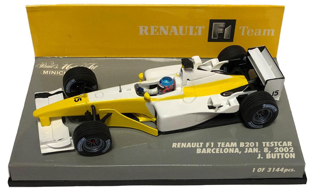 MINICHAMPS RENAULT F1 B201  15 Test Voiture janvier 2002-Jenson Button échelle 1 43