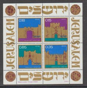 Topical Stamps Intelligent V1548 Israel/ Architektur Minr Block 8 **