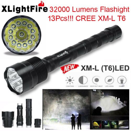 90000LM 14x T6 LED 5 Modes 18650 Led Flashlight Super Bright Torch Light Hunting
