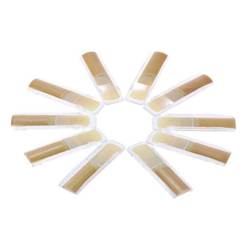 10pcs// Box Eb Alto Saxophone Sax Bamboo Reeds Strength 2.0//2.5//3.0 N7R2