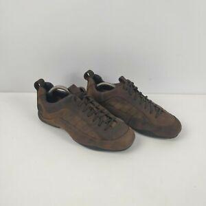 Homme-Timberland-Smart-en-Cuir-Marron-a-Lacets-Chaussures-UK-8-EU-42