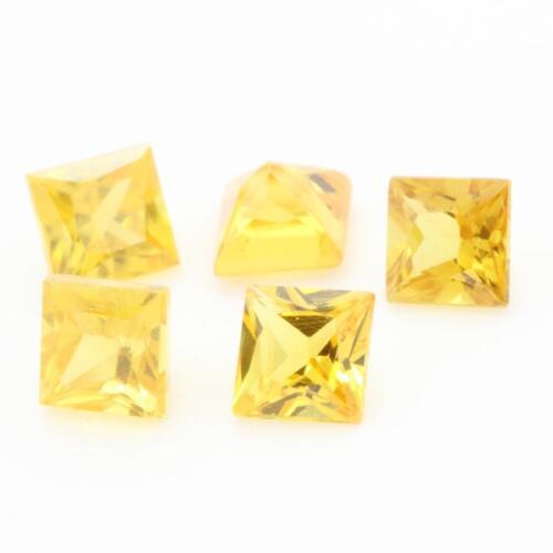 Sri Lanka Einzelverkauf Ceylon Gelber Saphir.If-Vvs1 Quadrat.