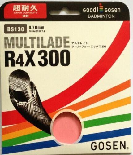 White Gosen Badminton string R4X 300 set 10m 0,70 mm