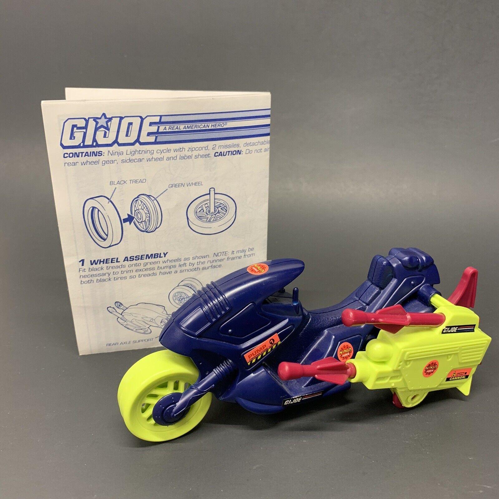 GI Joe Ninja Lightning Motorcycle SIDECAR w// WHEEL Vtg part 1993 accessory g.i