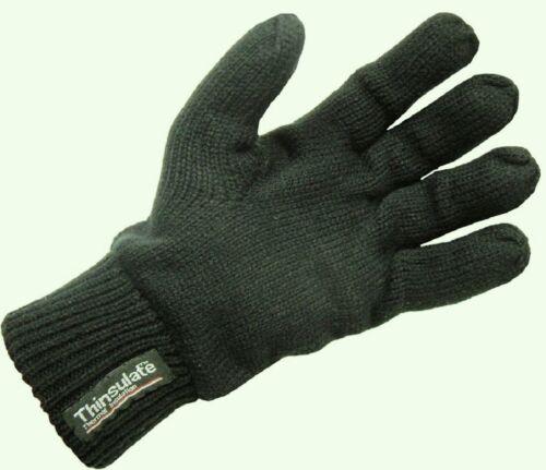 JACK Pyke Thinsulate Acrilico Lavorato a maglia guanti adulto uno-Taglia Large Nero Nuovo