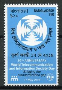 Bangladesh-2019-MNH-World-Telecoms-Information-Soc-Day-1v-Set-Technology-Stamps