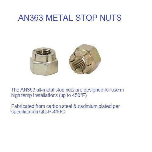 MS210455 AN363 METAL STOP NUT 516 HIGH TEMP 10 PACK
