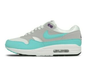 outlet store fb2df d2b1e Image is loading Nike-Air-Max-1-Anniversary-OG-White-Aqua-