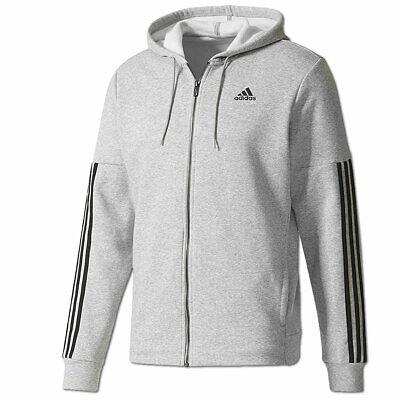 adidas ESS 3S Herren Sweatjack Full Zip Hoodie Kapuzenjacke
