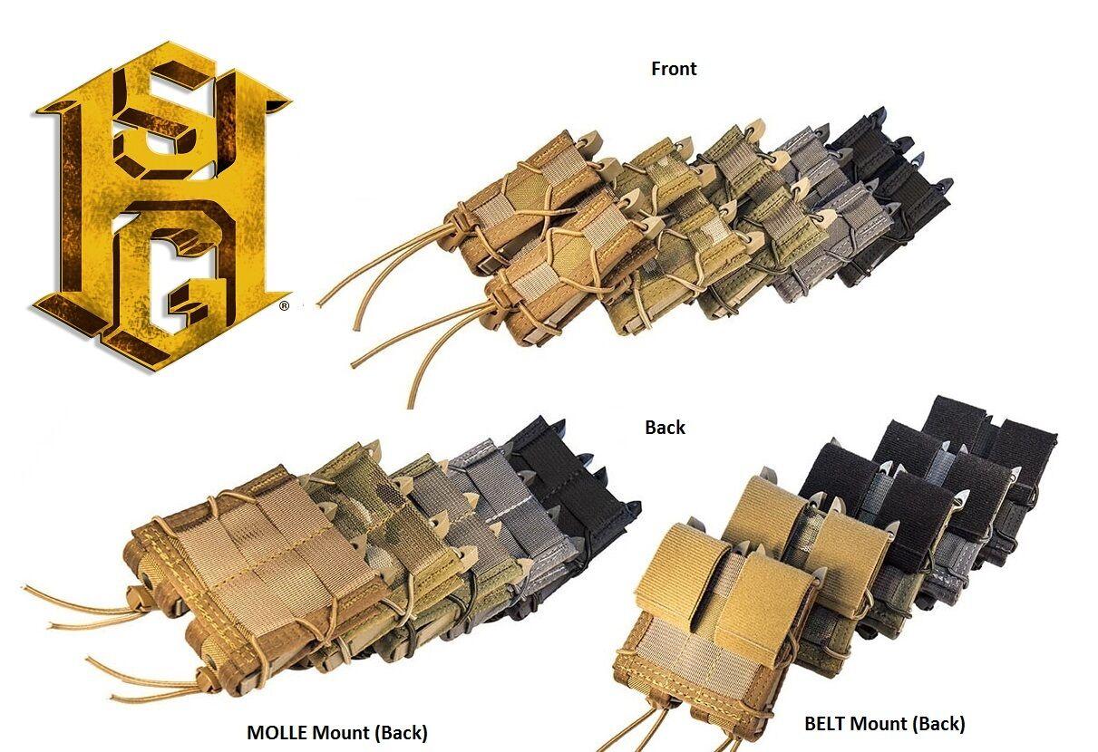 HSGI MOLLE or BELT Double Pistol P Taco-11PT02 13PT02-Choose Your color