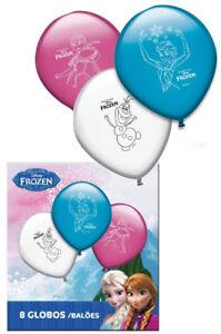 8-Frozen-Latex-Ballons-A-L-039-Helium-Air-Qualite-Couleur-Fete-d-039-Anniversaire-ballons