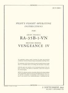 VULTEE-A-31-amp-A-35-VENGEANCE-PILOT-039-S-FLIGHT-OPERATING-INSTRUCTIONS-4-MANUALS