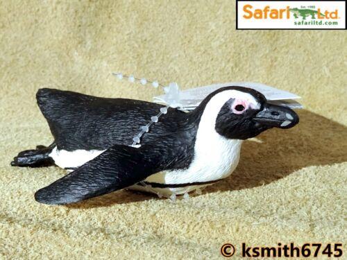 Pinguino giocattolo di plastica solida Wild Zoo Animale ACQUA BIRD Safari Africano NUOVO *