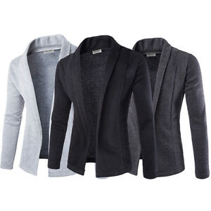 Mens-Solid-Blazer-Cardigan-Long-Sleeve-Casual-Slim-Fit-Sweater-Jacket-Coat-Tops