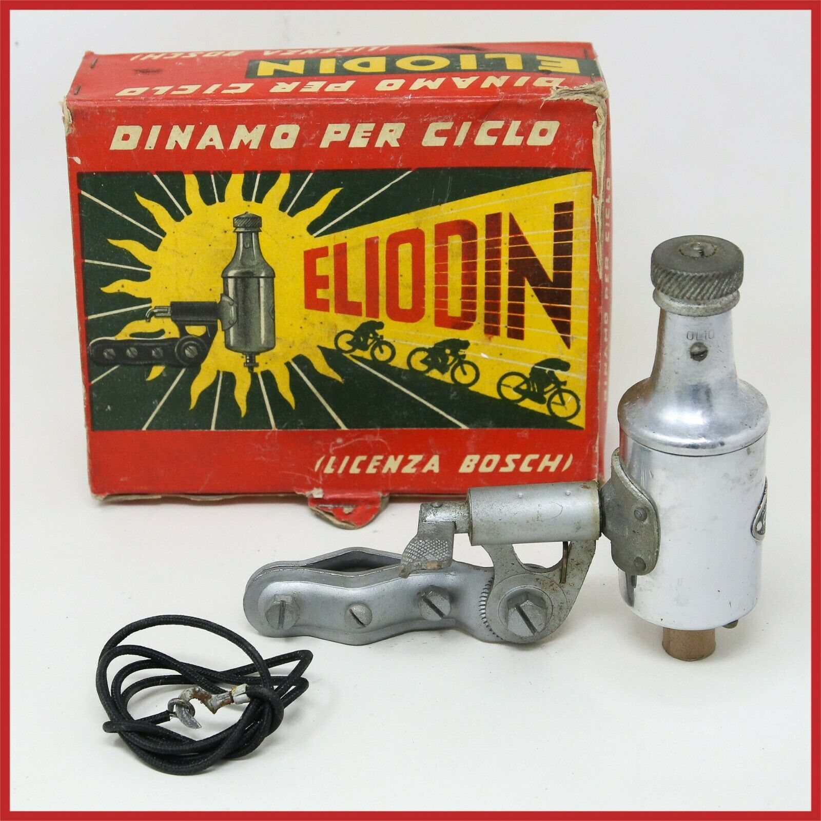 NOS ELODIN BOSCH DYNAMO 40s 50s ROED TOURING bicicletta ANTIQUE OLD ITALIAN vintage