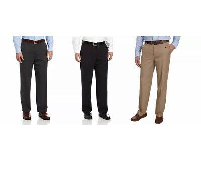 NWT IZOD Men/'s Performance 4 Way Stretch Straight Dress Pants Navy Size 40x29