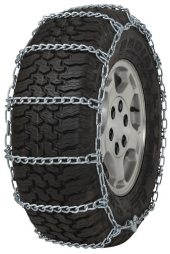 235//75-17.5 235//75R17.5 Tire Chains 5.5mm Link Non-Cam Snow Traction Light Truck
