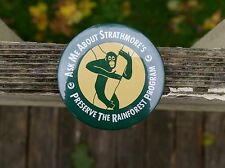 Ask Me About Strathmore's Preserve The Rainforest Program Pin Pinback Button