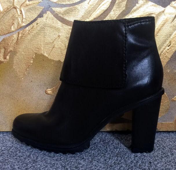 CLARKS KESWICK schwarz LEATHER ANKLE Stiefel Größe UK 6   EU 39.5
