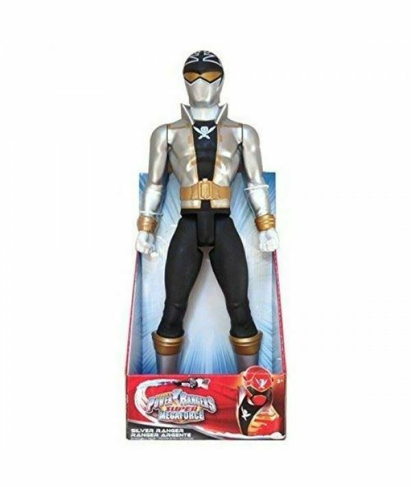 Power Rangers Super Megaforce Silber Ranger Figure Doll 20''  By Jakks Pacific
