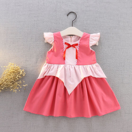Kids Girls Baby Birthday Cartoon Princess Dress Halloween Xmas Cosplay Costume