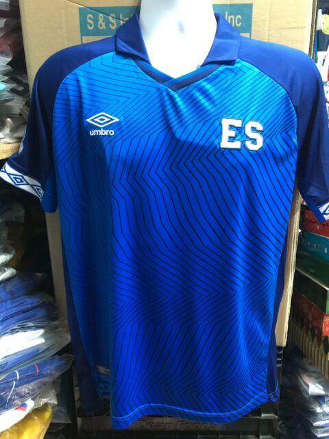 Umbro El Salvador Home Soccer Jersey #11 Jorge Magico Gonzalez Size Large Only