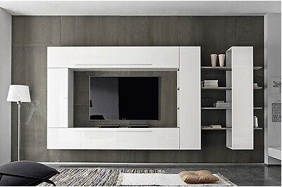 Parete attrezzata soggiorno moderna Primo Line 03 sala salotto mensole  pensile | eBay
