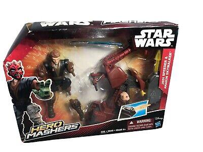 "2015 Star Wars Hero Mashers Sith Speeder /& Darth Maul 5-1//2/"" Action Figure"